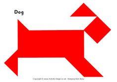 Tangram pattern - dog