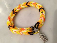 Rainbow Loom Bracelets with Charms Mustache by CraftsforDiabetes