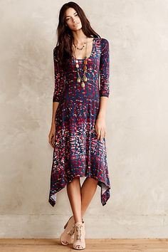This dress is so pretty - flowy, comfortable, pretty, interesting, and a great bandana design - is that what you call it?