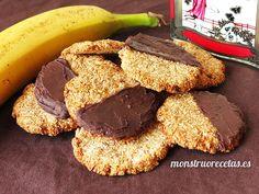 Receta de galletas ultra sanas sin huevo y sin harina, elaboradas con avena…
