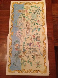 Map Page From The Enchanted Forest