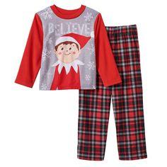"""Boys 4-10 The Elf on the Shelf """"Believe"""" 2-piece Fleece Pajama Set, Boy's, Size:"""