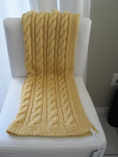 LuluKnits: Violet's Cable Knit Blanket Free Pattern