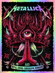 metallica poster by Ken Taylor Metallica Cover, Metallica Art, Hard Rock, Music Covers, Album Covers, Rock Band Posters, Heavy Metal Art, Thrash Metal, Geek Art