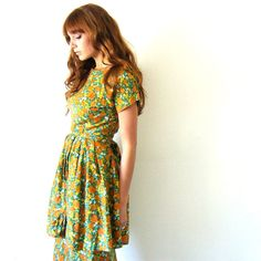 60s Floral Dress from SunshineintheCellar