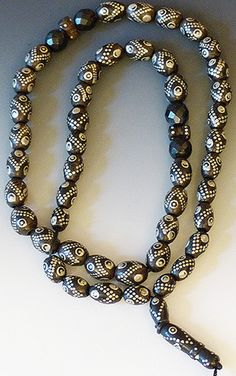 Yemen Black Coral Prayer Necklace #5