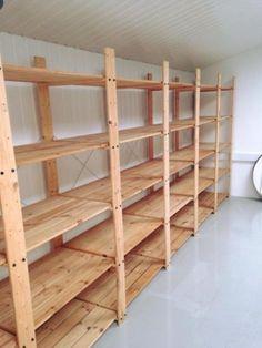 Canning Jar Storage, Canning Jars, Garage Shelf, Shelving, Ikea, Entertaining, Room, Awesome, Home Decor