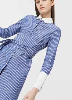 Koszula oversize w pasy | MANGO