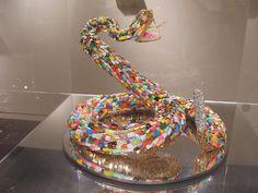 Da Corte Snake Sculpture made from Acrylic Nails.Snake Sculpture made from Acrylic Nails. Sculptured Nails, Sculpture Painting, Art For Art Sake, Art Fair, Community Art, Cute Nails, Hair And Nails, Photo Art, Acrylic Nails