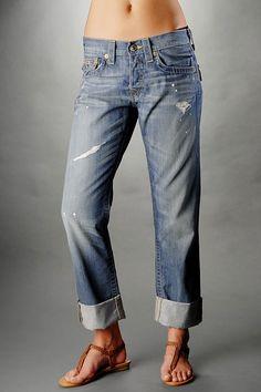 True Religion Jeans Women's Jordan Boyfriend Jean - Gunsmoke Boyfriend Jeans, Mom Jeans, Womens Jordans, True Religion Jeans, Girls Best Friend, Bell Bottoms, Blue Jeans, My Style, Blues