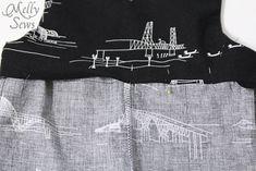 無料パターンとMelly縫っによって12男の赤ちゃんのロンパースステップ
