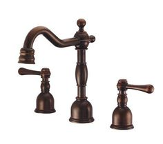 Danze D303057 Mini-Widespread Bathroom Faucet from the Opulence Collection (Valv Tumbled Bronze Faucet Lavatory Double Handle
