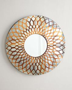 "Russell Copper-Foil Mirror 36""DIa. x 2.25""D"