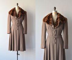 Highborne coat  vintage 1930s coat  fur collar 30s by DearGolden