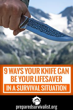 Learn how a knife can save your life in a survival situation. If you're out in the wilderness and disaster strikes and all you have is your knife and your knowledge, you'll make it if you know how a knife can save your life. Urban Survival, Wilderness Survival, Survival Tools, Survival Knife, Survival Prepping, Survival Hacks, Survival Weapons, Survival Videos, Survival Fishing