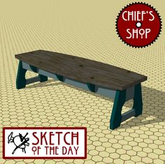 Sketch of the Day: Turtle Bench