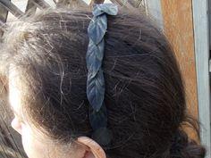 Simple Black Leaf Garland Headband, Black Fairy Crown, Narrow Leaf Garland, Leaf Vine Crown, Male Fairy Headpiece B01 by FairyFlowerDreams on Etsy