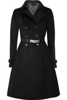 Burberry Prorsum  Belted wool and cashmere-blend coat