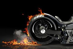 Custom Motorcycle Burnout