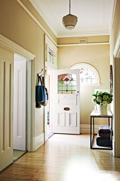 Clean and light, the refurbished entry hall creates a wonderful first impression.