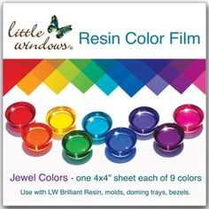 The easiest way to add color to your resin projects! Project ideas and how-to video at little-windows.com