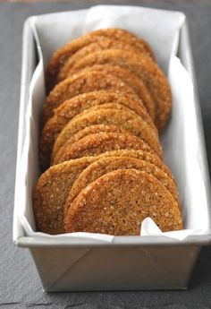 really good used a combo of gf flours Molasses Ginger Cookies with Fresh Ginger, Vietnamese Cinnamon, and Sparkling Sugar Sweets Recipes, Just Desserts, Cookie Recipes, Delicious Desserts, Party Recipes, Tea Cakes, Biscotti, Yummy Treats, Sweet Treats