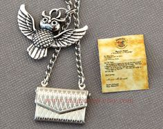 Harry Potter Necklace Harry Potter Jewelry Owl Post by MagicTrip    WANT!!!!!!