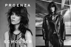 Meghan Collinson in Proenza Schouler's Fall '12 ads, shot by Alasdair McLellan