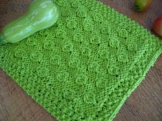 Cabbage Patch Knitted Dishcloth