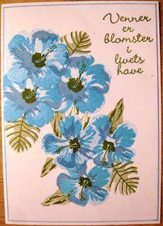 Hobby Bien, Hero Arts layering stamps, Hibiscus
