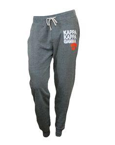 Kappa Kappa Gamma Fleur Sweatpants by Adam Block Design | Custom Greek Apparel & Sorority Clothes | www.adamblockdesign.com