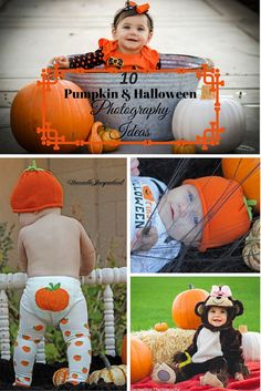 10 Pumpkin and Halloween Photography Ideas for infants and children by photographer Danielle Jacqueline Photography in Surprise, AZ