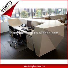 Hot vente diamant forme hall de bureau comptoir de réception-image-Table en…