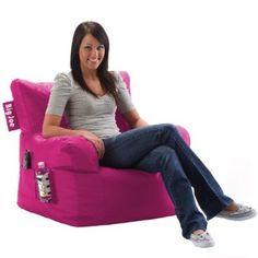 $54.99 amazon.com: Comfort Research Big Joe Dorm Chair with Smart Max Fabric, Green Flash: Home & Kitchen