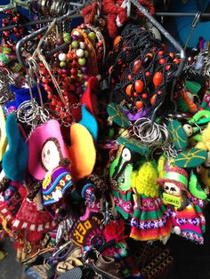 Colors & prints at an outdoor market in Peru