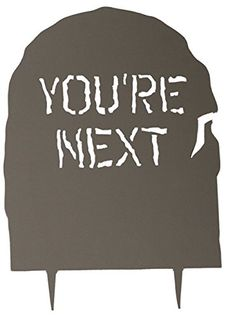acurio hw1tsyn tombstone with youre next epitaph 33 by 24inch amazon best home decor