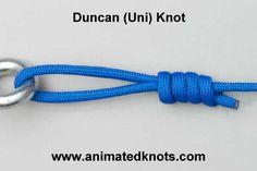 Tutorial on Duncan (Uni) Knot Tying