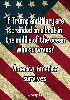 America is sad that they're not stranded on a boat in the middle of the ocean now.