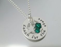 Sterling silver handstamped Reach for the by TinyTreasuresBySC, £28.00