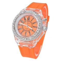Luminous Glowing LED Quartz Sport Watches Do you love to look sharp and attracti Stylish Watches, Cool Watches, Wrist Watches, Women's Watches, Led Watch, The Dark Crystal, Watch Sale, Watch Brands, Sport Watches