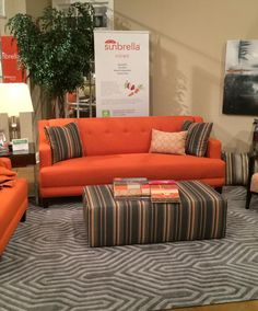 We're wrapping up another great show at the High Point Furniture Mart. Thanks to all who may have visited our space. One of the highlights was our collaboration with Sunbrella performance fabrics, which are a perfect match to our new casual lifestyle upholstery collections. The rich, vibrant colors and patterns are backed by Sunbrella's legendary durability, colorfastness and total cleanability. It's a great partnership! #FDHOME