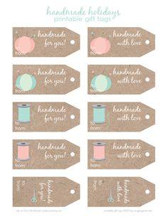 free printable: handmade holidays gift tags *plus giveaway* - imagine gnats