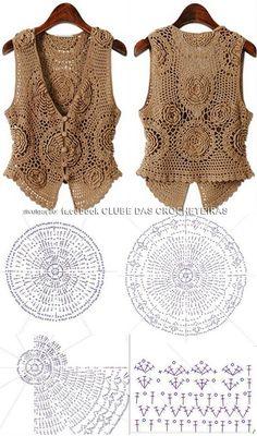 Big rose bolero vest