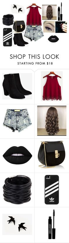 """""""Sem título #9"""" by bruuhwey ❤ liked on Polyvore featuring Billini, Lime Crime, Chloé, Saachi, adidas and Lord & Berry"""