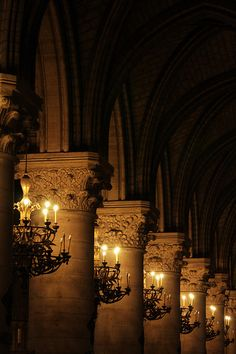 "Notre Dame, Paris, France - ""Receeding lights - Notre-Dame - Paris - France"" by Tom Wright, via Flickr"