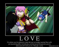 fairytail demotivation poster | Fairy Tail Love- Juvia Demotivational Poster