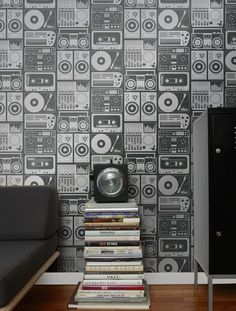 Analog Nights Vinyl Wall Covering $180 per roll from Flavor Paper
