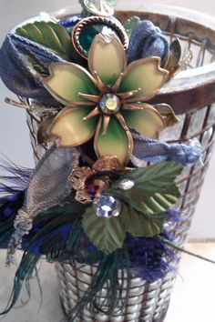 Vintage Jade Flora & Fauna Headband by bluehoneyjewelry on Etsy, $55.00