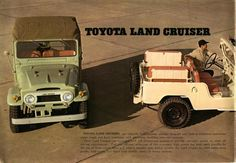 On the Subject of: The Toyota Land Cruiser. Toyota Land Cruiser, Fj Cruiser, Toyota Runner, 4x4, Motor Diesel, Advertising History, Toyota Fj40, 1960s Cars, Land Rover
