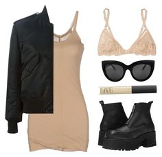 """""""Need"""" by baludna ❤ liked on Polyvore featuring UNIF, Rick Owens Lilies, Yves Saint Laurent, NARS Cosmetics and La Perla"""